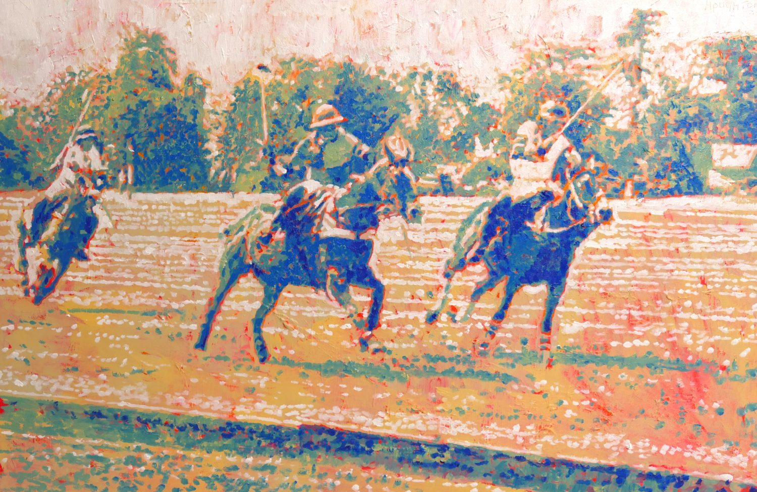 Polo at Cirencester Park. Oil on Canvas.